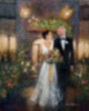 Angus Barn Wedding Painting, Dan Nelson