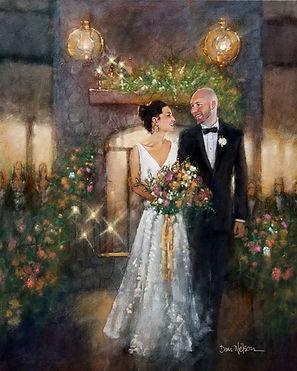 Angus Barn Wedding Painting, Dan Nelson
