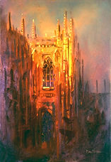 Duke chapel Wedding Painting, Dan Nelson
