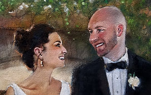 Wedding Painting close up, Dan Nelson
