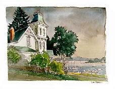 Harbor Springs Wedding Painting, Dan Nelson