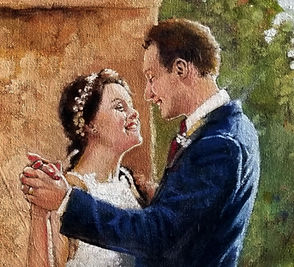 Carriage House close up Wedding Painting, Dan Nelson