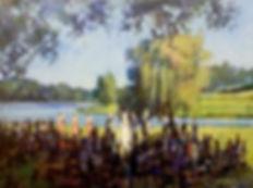 Wedding Painting, Vineyard, Dan Nelson