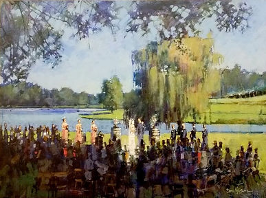 Wedding Painting, Vineyard, Dan Nelson