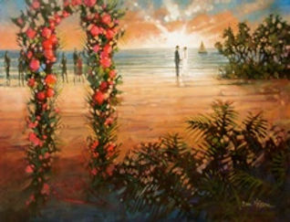 Carribean Wedding Painting, Dan Nelson