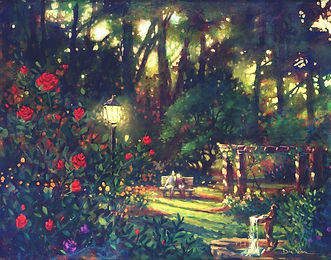 Rose Garden Wedding Painting, Dan Nelson
