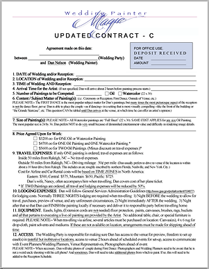 Wedding Painter Contract