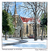 Christ Church Wedding Painting, Dan Nelson