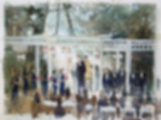 Wedding Painting, Calamigos Equestrian Center,Burbank, CA, Dan Nelson