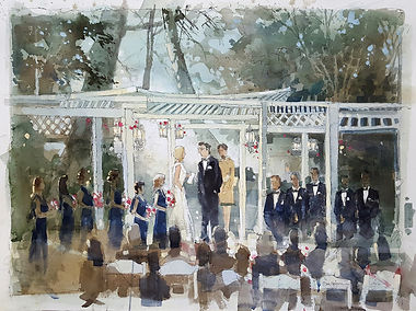 Wedding Painting, Calamigos Equestrian Center,Burbank, CA, Dan Nelson