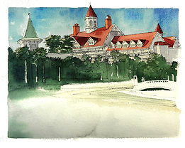 Grand Floridian Wedding Painting, Dan Nelson,