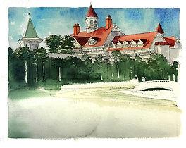 Grand Floridian Wedding Painting, Dan Nelson,