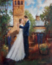 Carriage House Wedding Painting, Dan Nelson