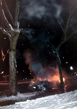 Car on fire rock n roll web