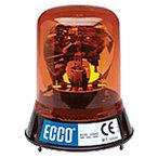 Torreta Giratoria 12V CD Color Ambar ECCO