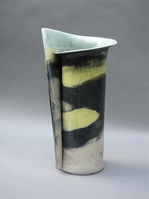 Large Onyx, Yellow, Turquoise & White Nerikomi Vase