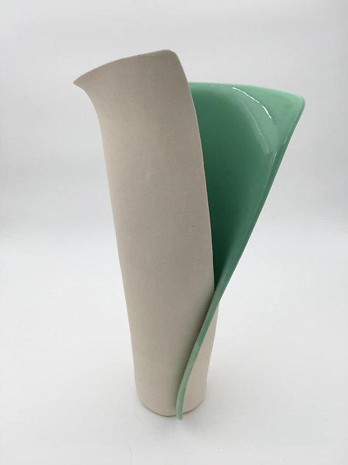 Turquoise Envelope Vase