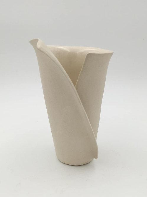 "White Envelope Vase 8"" (WhtEnv1Sm-8"")"