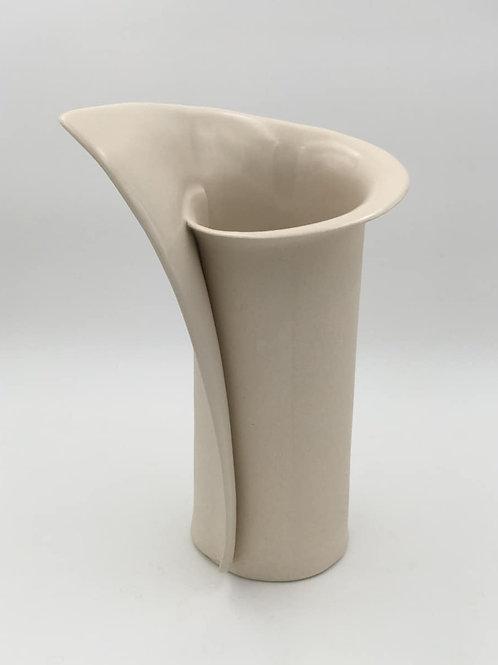 White Twirl Vase