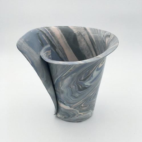 Nerikomi Blues Vase