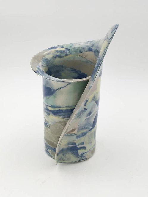 """Blue Green  Vase 8"""" (BluGrnNer -8"""")"""