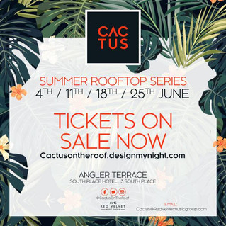 "Africa & Ibiza are coming to London! ""Cactus on the Roof"" launches on 4th June."