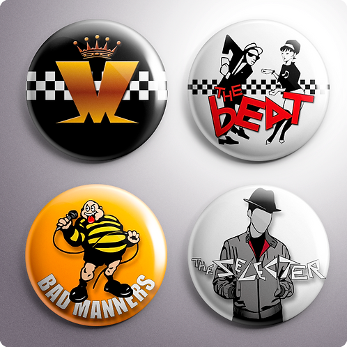 Ska Band Button Badges x4