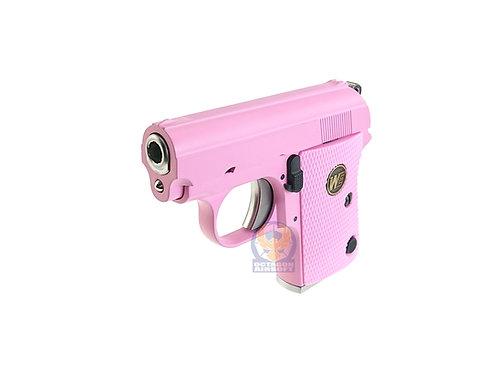 WE Full Metal CT25 (Colt.25) Gas Blow Back Pistol (Pink).