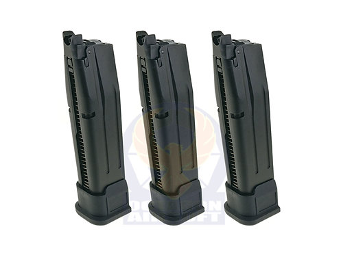 AEG (WE) 3pcs set P320 M17 20rounds Gas Magazine.(BK).