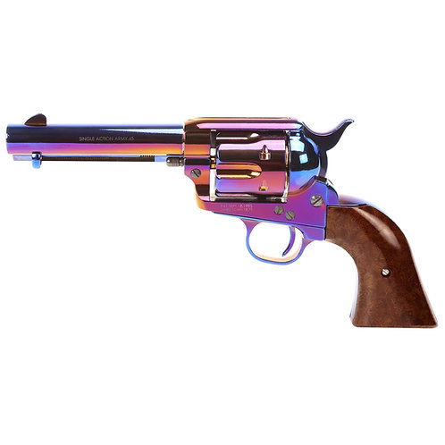 King Arms SAA .45 Peacemaker Airsoft Gas Revolver S 4 inches - Bluing