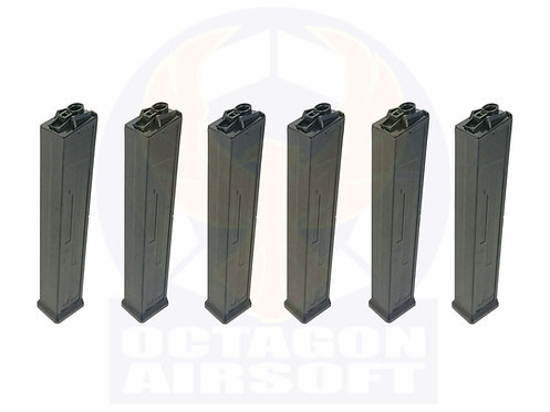 Classic Army Pack of 6 Set UMC AEG 100rds Mid-Cap Magazine.P415P-1.