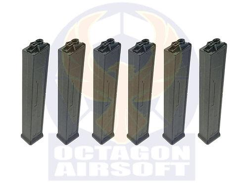 Classic Army Pack of 6 UMC AEG 470rds Hi-Cap Magazine.P414P-T.