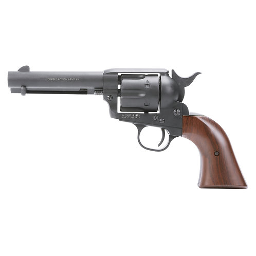 King Arms SAA .45 Peacemaker Airsoft Gas Revolver S 4inches - Dull Black