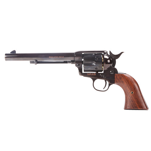 King Arms SAA .45 Peacemaker Airsoft Gas Revolver M - Electroplating Black.