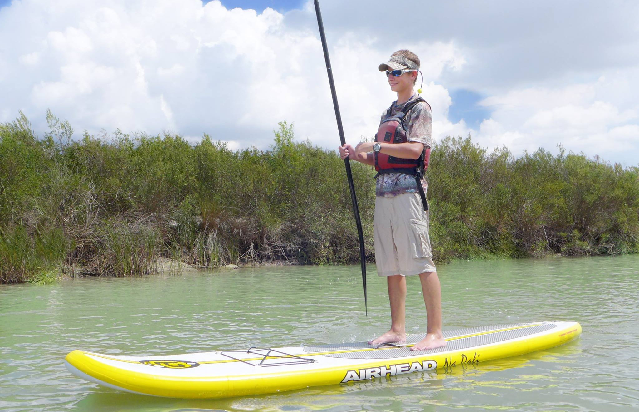Paddle Boarding at the Nature Center