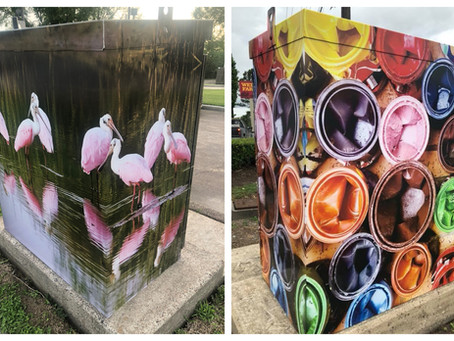 Have you seen the Mini Mural art in Baytown?