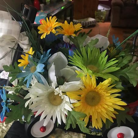 Easy Peasy Flower Arrangement