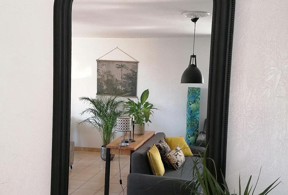 Miroir antique noir