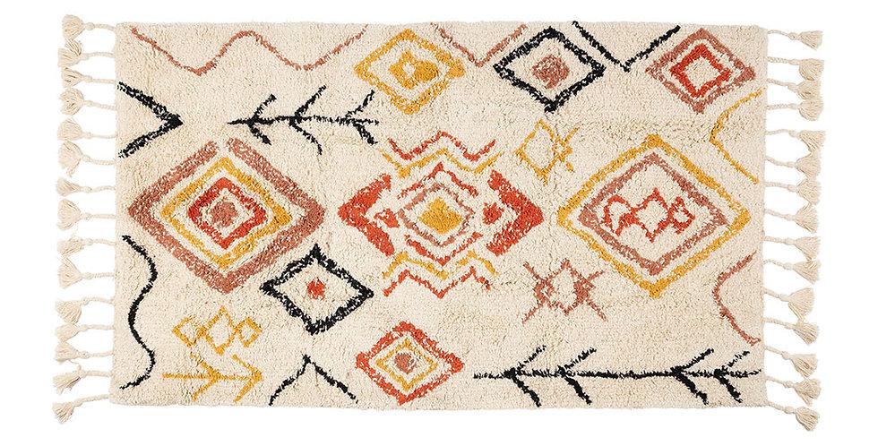 Tapis aztèque rouge 70x145 cm