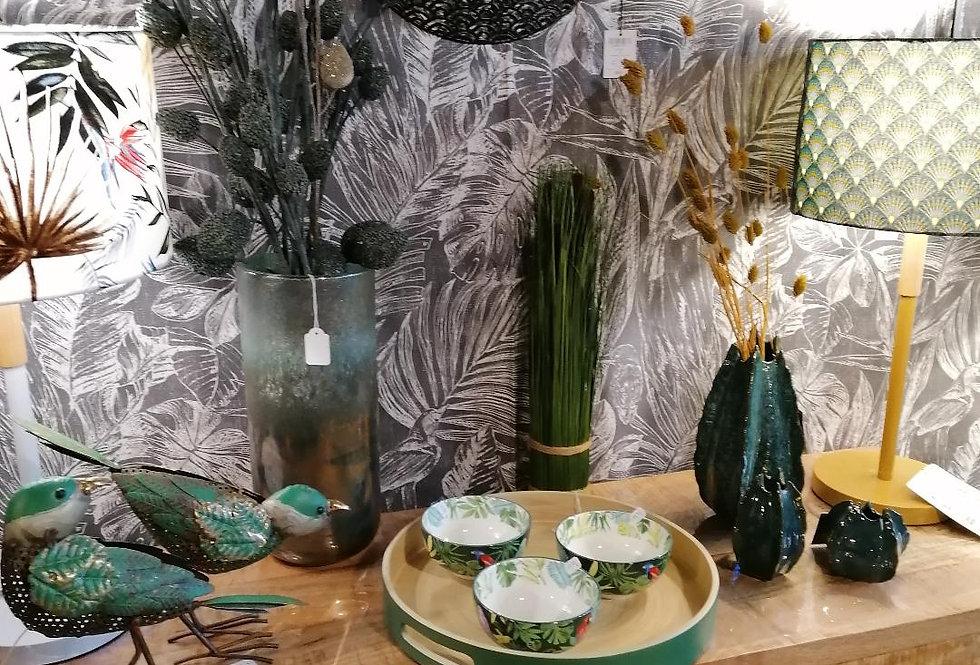 Plateau vert en bambou