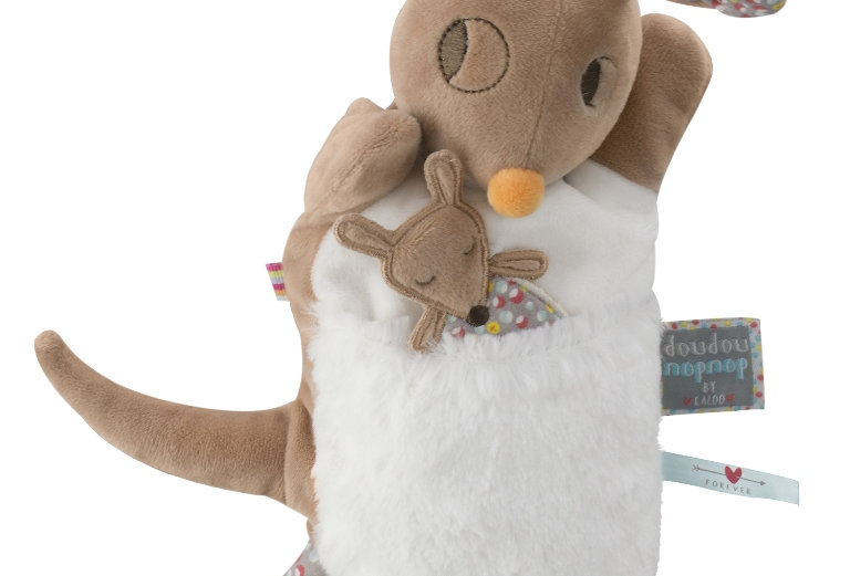Doudou marionnette kangourou