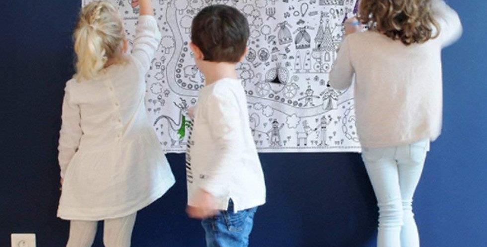 """Poster géant à colorier """"princesse"""""""