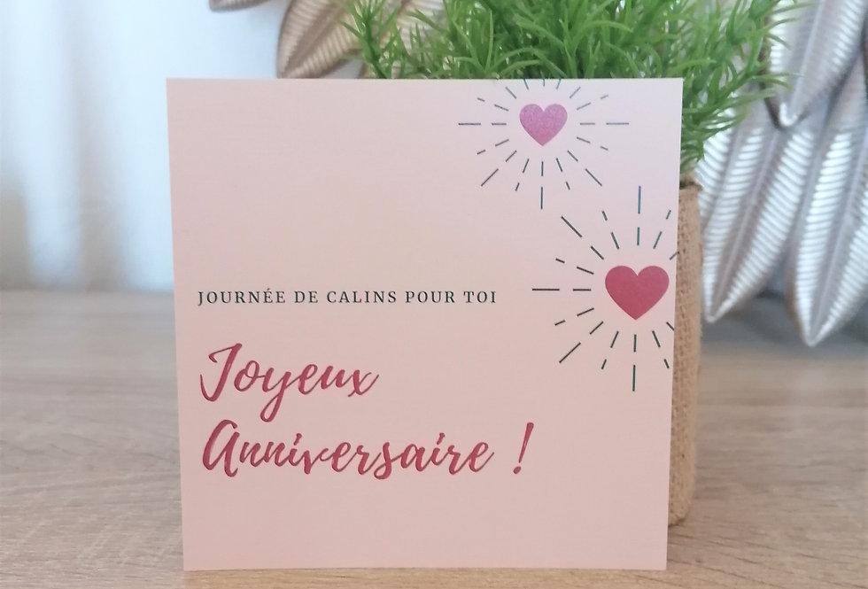 """Carte """"Joyeux anniversaire"""" 11x11cm"""