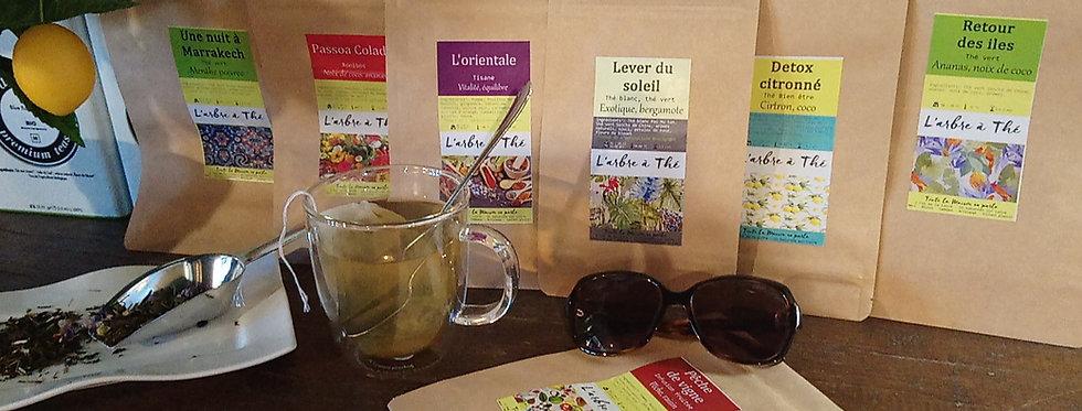 Thés verts aromatisés - 50 g