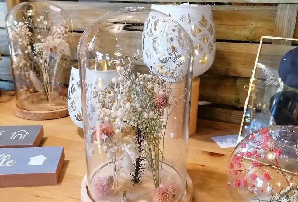 Cloche à fleurs séchées