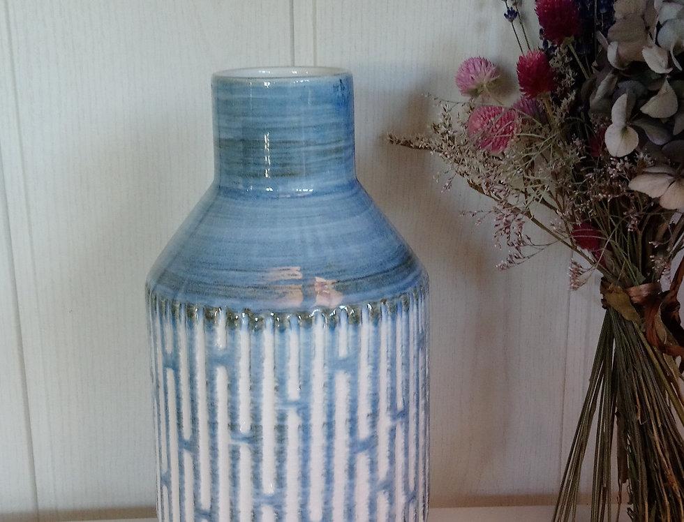 Vase bleu et blanc - haut