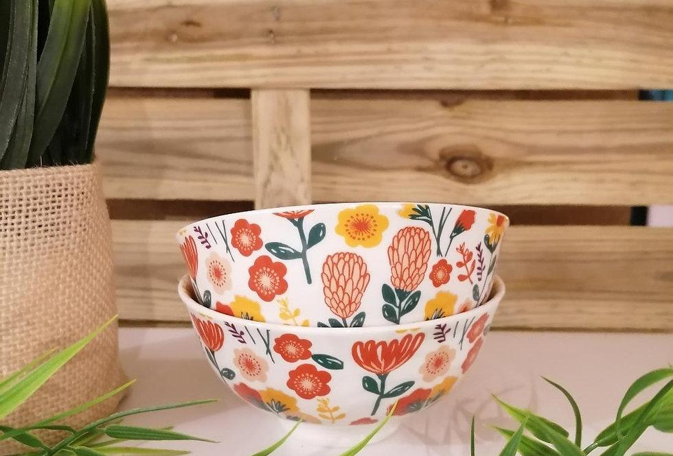 Mini-bol fleuri blanc