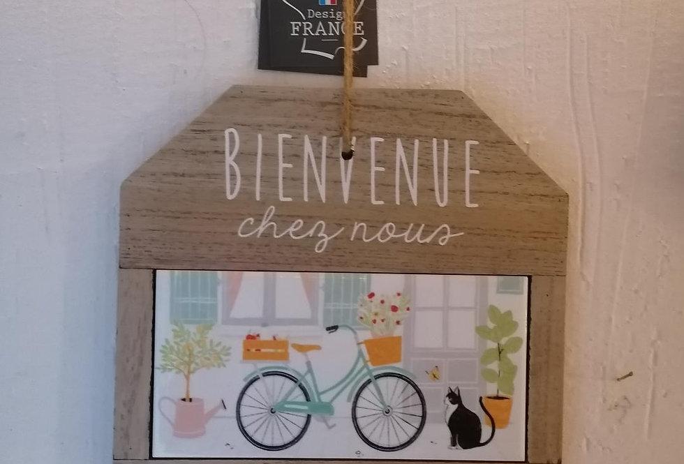 """Pancarte """"Bienvenue chez nous"""""""