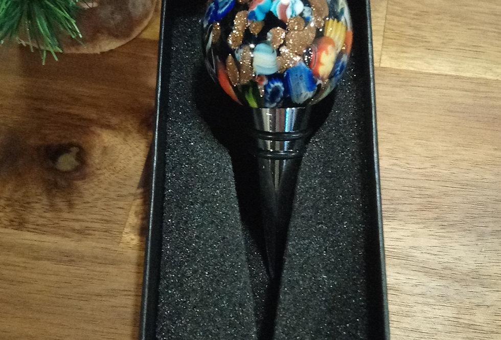 Bouchon de bouteille murano multicolore