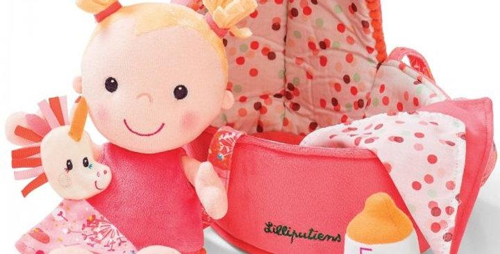 Poupée bébé et son couffin